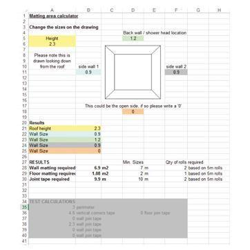 Matting Area Calculator