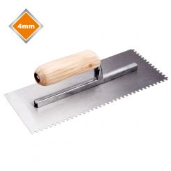 4mm SQUARE NOTCH TROWEL
