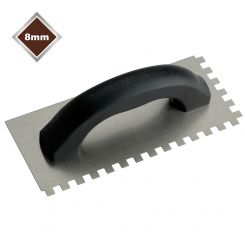8mm ECONOMY STEEL SQUARE NOTCHED TROWEL