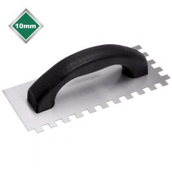 10mm ECONOMY STEEL SQUARE NOTCHED TROWEL