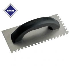 6mm ECONOMY STEEL SQUARE NOTCHED TROWEL