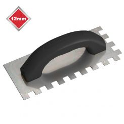 12mm ECONOMY STEEL SQUARE NOTCHED TROWEL