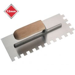 12mm HIGH CARBON STEEL SQUARE NOTCHED TROWEL