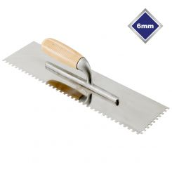 6mm LARGE FORMAT HIGH CARBON STEEL SQUARE NOTCHED TROWEL