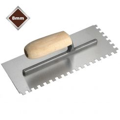 8mm HIGH CARBON STEEL SQUARE NOTCHED TROWEL