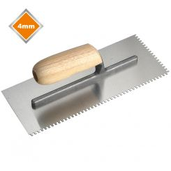 4mm HIGH CARBON STEEL U NOTCHED MOSAIC TROWEL