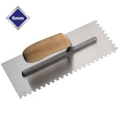 6mm HIGH CARBON STEEL SQUARE NOTCHED TROWEL