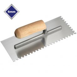 6mm  HIGH CARBON STEEL U NOTCHED TROWEL