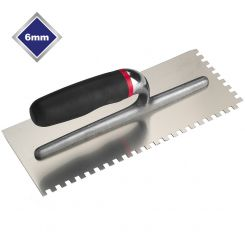6mm SQUARE NOTCHED STAINLESS STEEL TROWEL