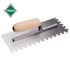 10mm HIGH CARBON STEEL SQUARE NOTCHED TROWEL