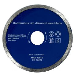 DIAMOND SPARE BLADE 110mm x 22.23mm