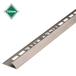 BRUSHED S/STEEL EFFECT TRIANGULAR TILE TRIM