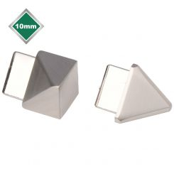S/STEEL EFFECT TRIANGULAR TRIM CORNERS