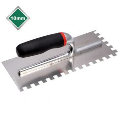 10mm  SQUARE NOTCHED STAINLESS STEEL TROWEL