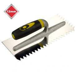 12mm V NOTCHED STAINLESS STEEL TROWEL