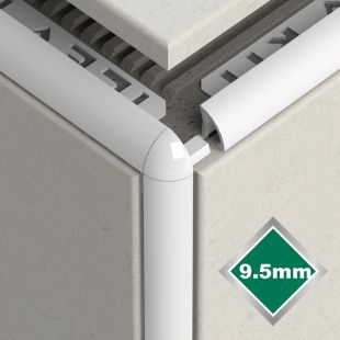 9.5MM NEW WHITE PVC CORNERS 2 PACK