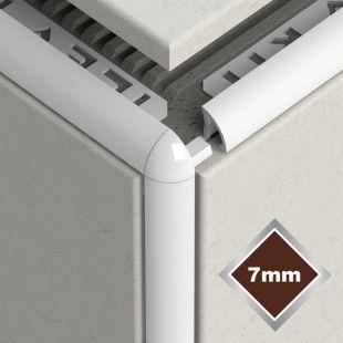 7MM NEW WHITE PVC CORNERS 2 PACK