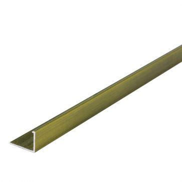 10mm L Shape Brushed Gold