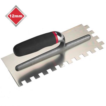 12mm  SQUARE NOTCHED STAINLESS STEEL TROWEL