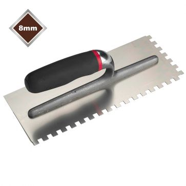8mm  SQUARE NOTCHED STAINLESS STEEL TROWEL