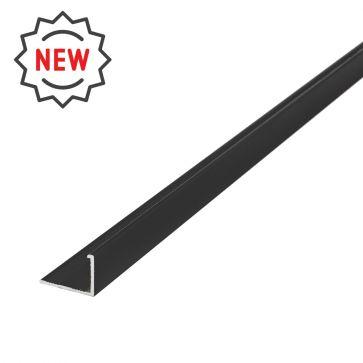 12mm L Shape Textured Black