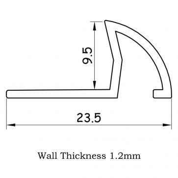 TILE EDGING WHITE (9.5mm)