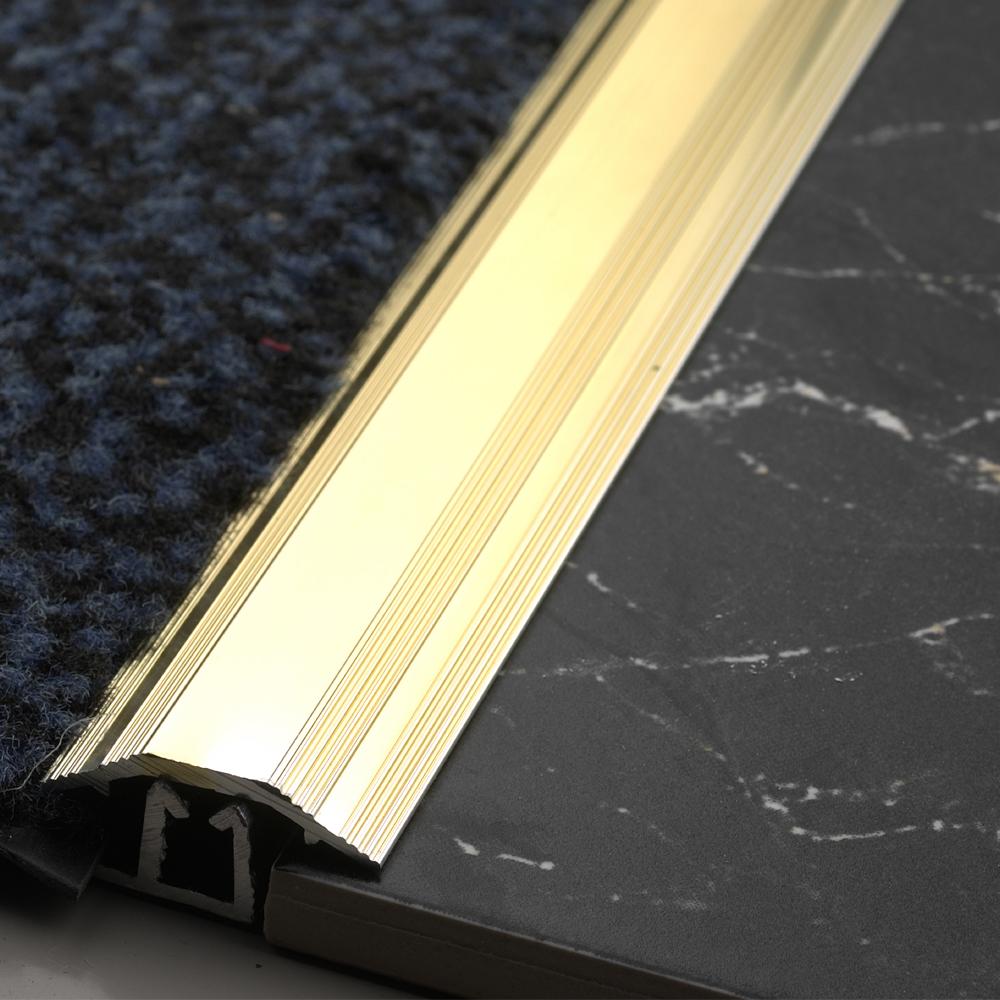 864mm Carpet Tile Trim Gold