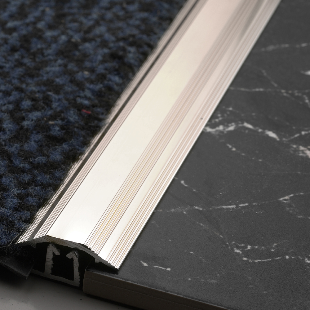 864mm Carpet Tile Trim Silver